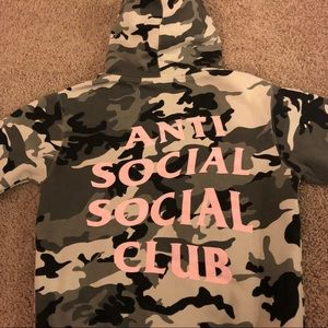 """c93543da06a2 Anti Social Social Club Tops - 100% authentic ASSC """"Not Gildan"""" snow camo"""